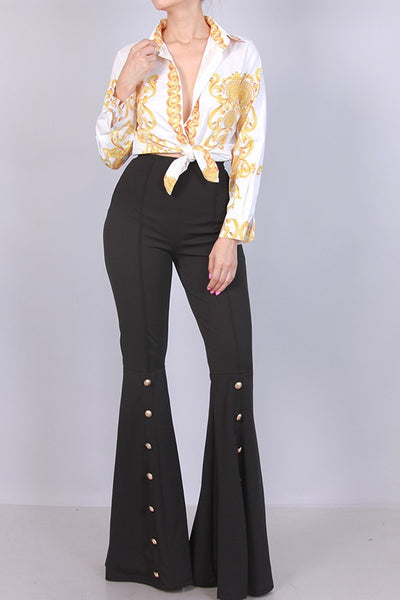 Merci High Waist Bell Bottom Pants