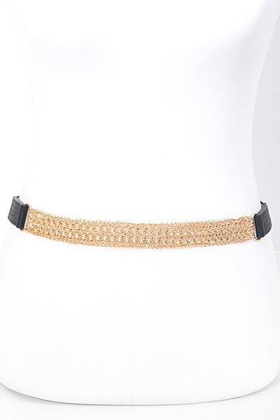 Simple Solid Thin Chain Belt