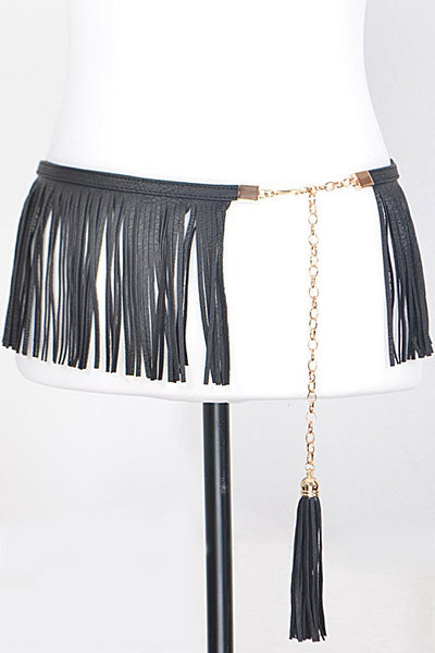Bar Fringed Belt