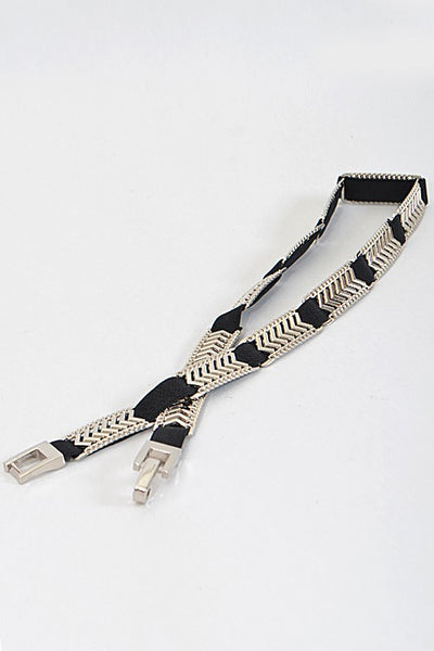Chevron Inspired Simple Thin Belt