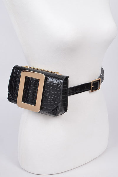 Lagos Snakeskin Print Multi Purpose Belt