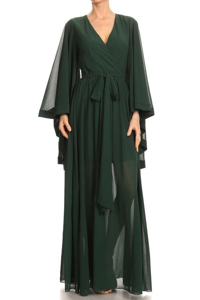 Dayo Chiffon a-line maxi dress