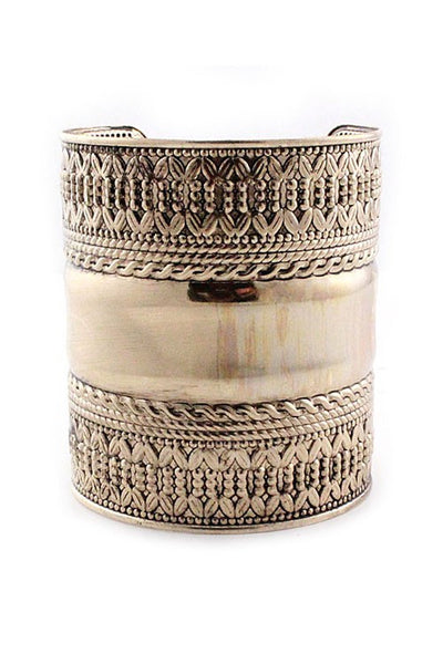 Cuff Bracelet/ Length- 3 inches, Width- 6 1/2 inches