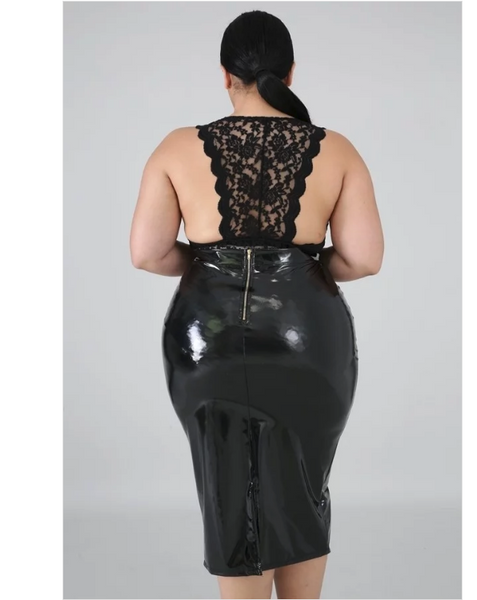 Lolly Latex Pencil Skirt (PLUS SIZE)