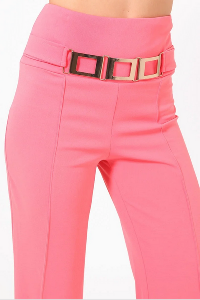 Binta High Waist Buckle Detail Pants