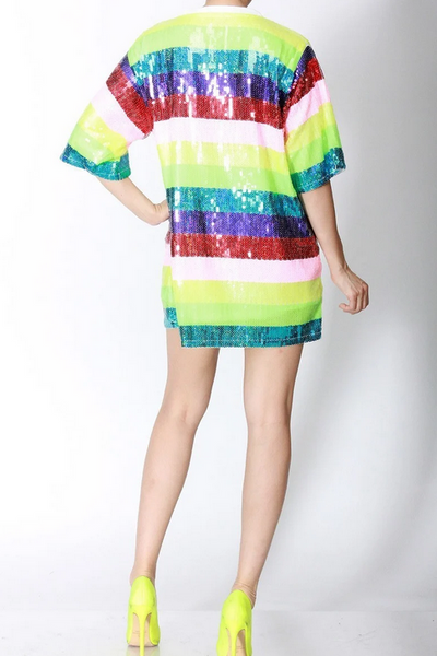 Arleth Sequin Stripe Dress