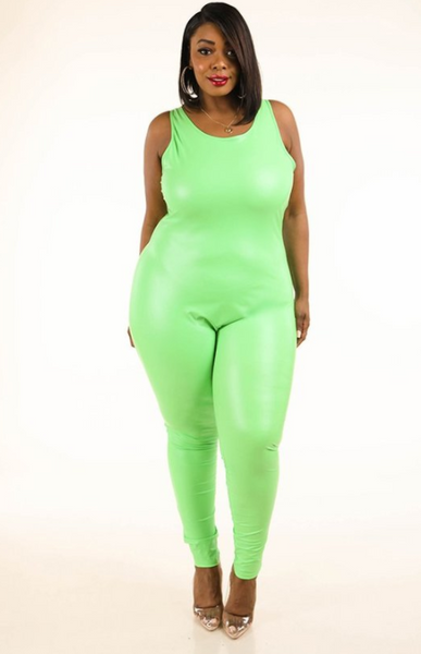 Corina Latex Jumpsuit (Plus Size)