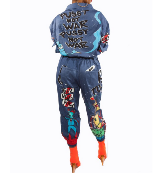 Becky Multi Color Print Jumpsuit