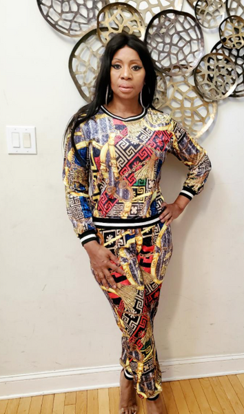 Bukkie  Two Piece  Abstract Print Set