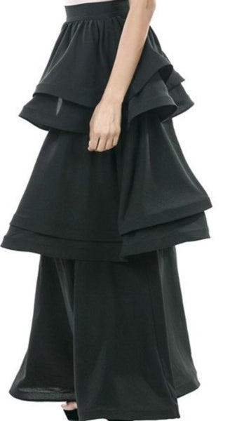 Belinda 2 Set Ruffle Layered Maxi Skirt