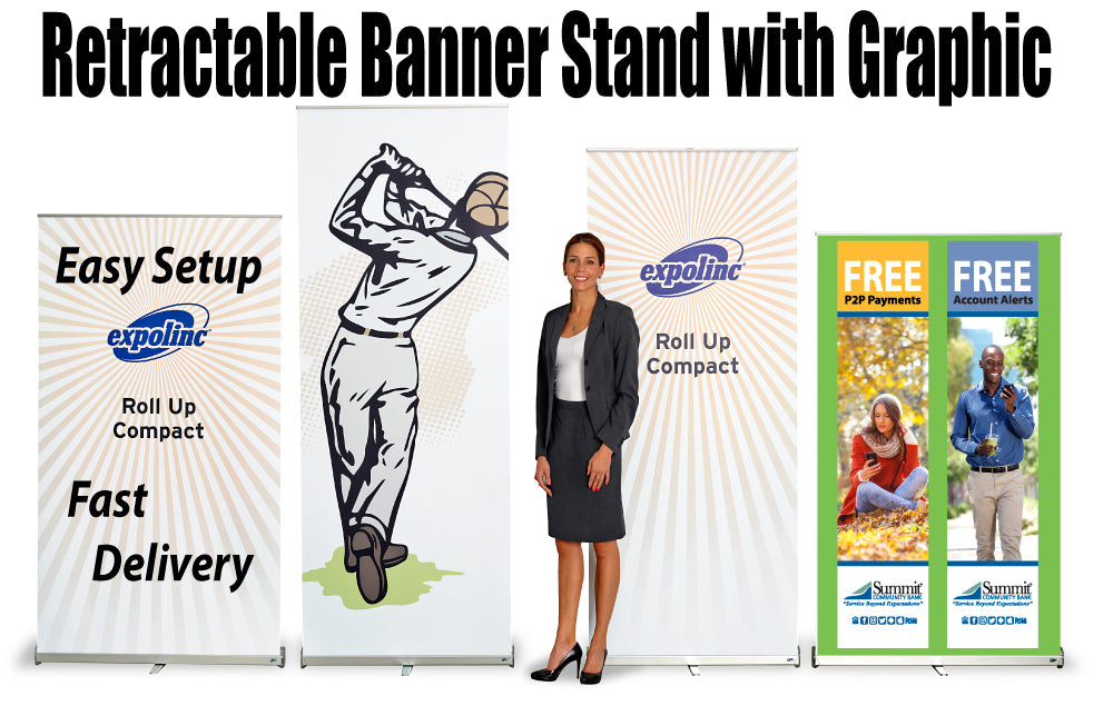 New Retractable Banner Stand That Comes With Your Graphic
