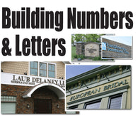 Building Numbers, Building Lettering with dimension