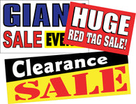 Sale Signs and Banners for General Retail and Auto Dealerships