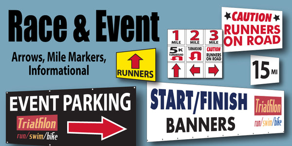 Race Signs, Arrows, Event Signs – Same Day Sign