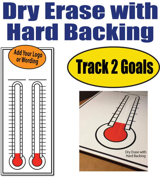 2 goal thermometer chart