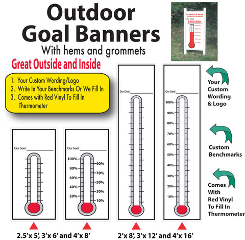 Outdoor Goal Thermometers