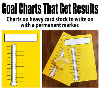 Yellow Goal Thermometer, heavy card stock