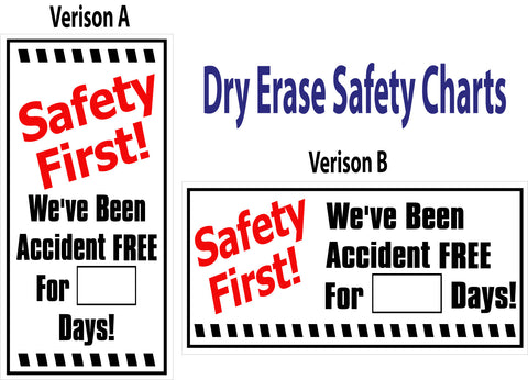 Safety Dry Erase Signs