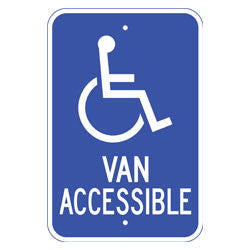 Van Accessible, with Handicap Symbol Sign