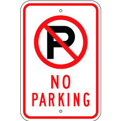 No Parking Sign, with Symbol