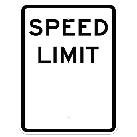 "Speed Limit Sign - 12"" x 18"""