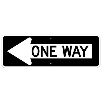One Way Arrow Sign, Left