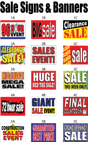 Sale Signs and Banners
