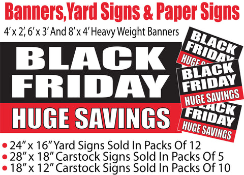 Black Friday Sale Signs - Banners-Yard Signs-Paper Signs