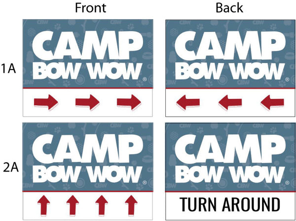 Camp Bow Wow - Arrow Yard Signs