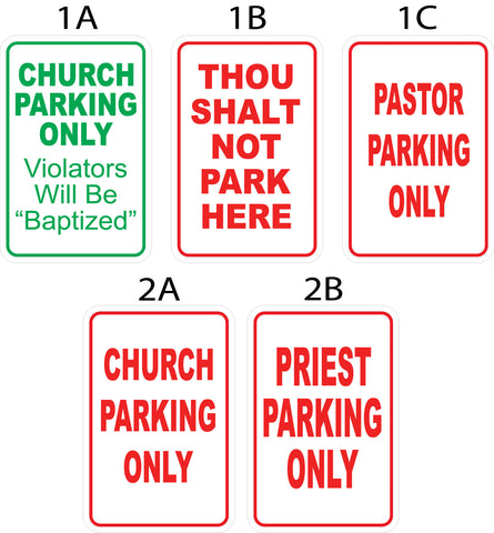 Church Parking Signs - Metal