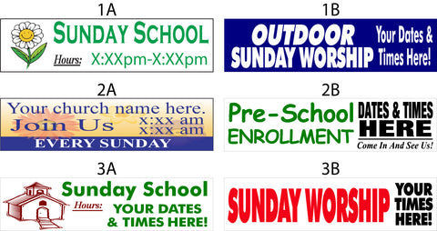 Church School and Worship Signs