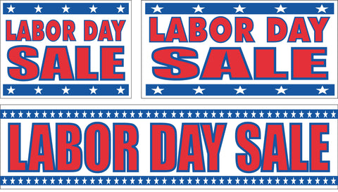 Labor Day Sale Signs and Banners