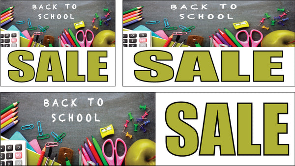 Back to School Sale Signs and Banners