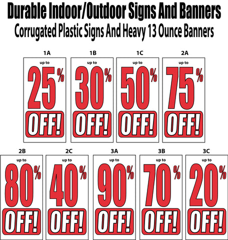 Percent Off Sign Packages and Banners