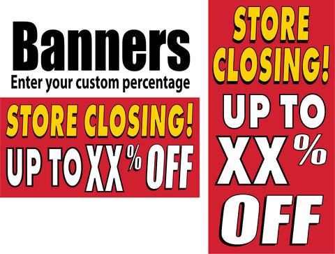 Banners - Percent Off