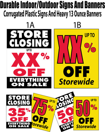 Percent off signs