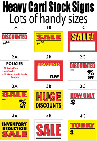 Sale signs - card stock