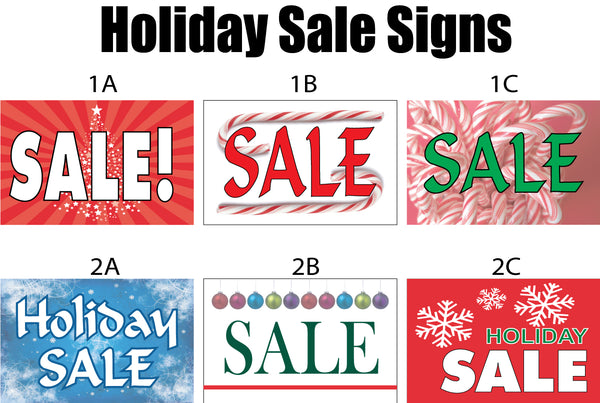Holiday Season Sale Signs