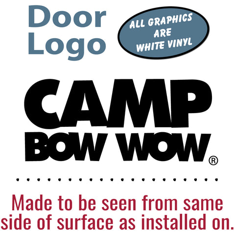 Camp Bow Wow Door Logo Decal