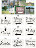 Wedding Signs - light background