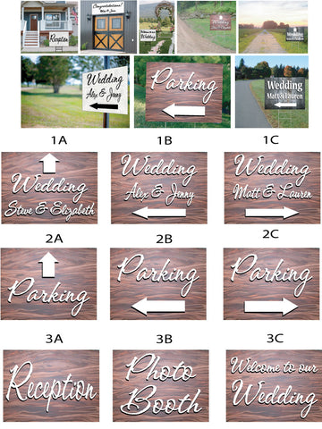 Wedding Signs - redwood