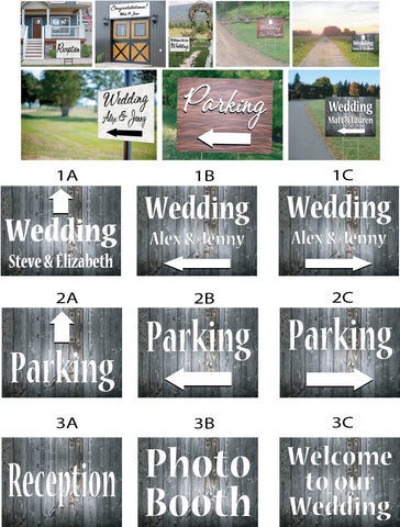 Wedding Signs - washed wood
