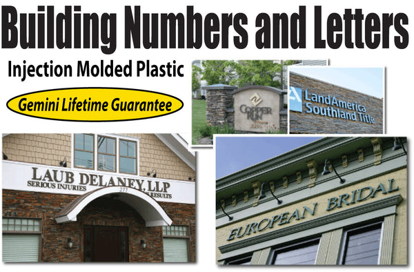 Injection Molded Building Letters