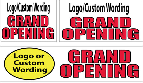 Grand Opening with Logo/Wording