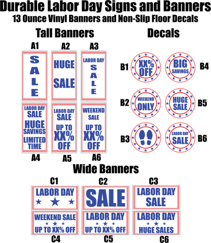 Labor Day Banners and Decals