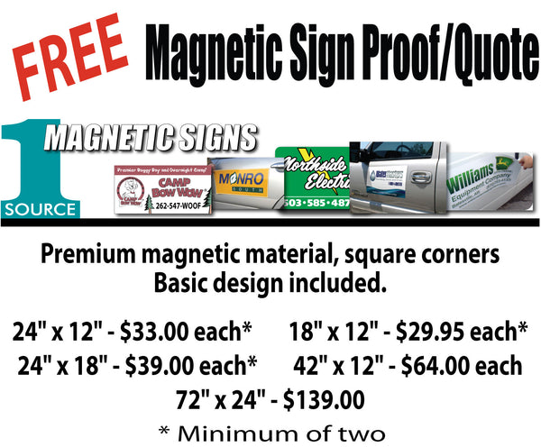 Magnetic Sign Proof and Quote