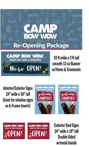 Camp Bow Wow Re-Opening Package
