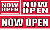 Now Open Signs and Banners