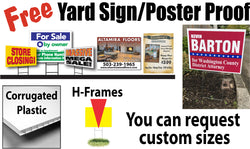 Yard Sign Proof and Quote