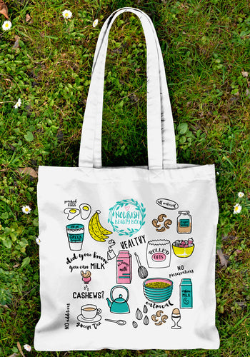Eco-Friendly Canvas Tote - Sept 2015 - Nourish Beauty Box